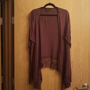 Short Sleeve Brown Cover Up